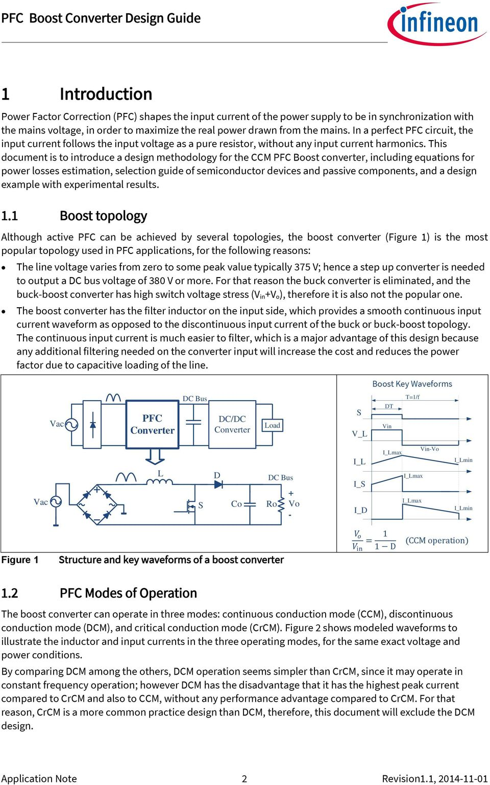 This document is to introduce a design methodology for the CCM PFC Boost converter, including equations for power losses estimation, selection guide of semiconductor devices and passive components,