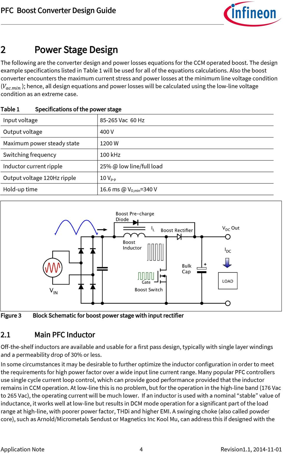 Also the boost converter encounters the maximum current stress and power losses at the minimum line voltage condition (V ac.