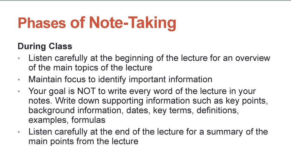 lecture in your notes.