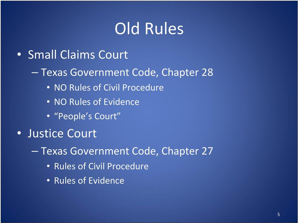Evidence People s Court Justice Court Texas Government