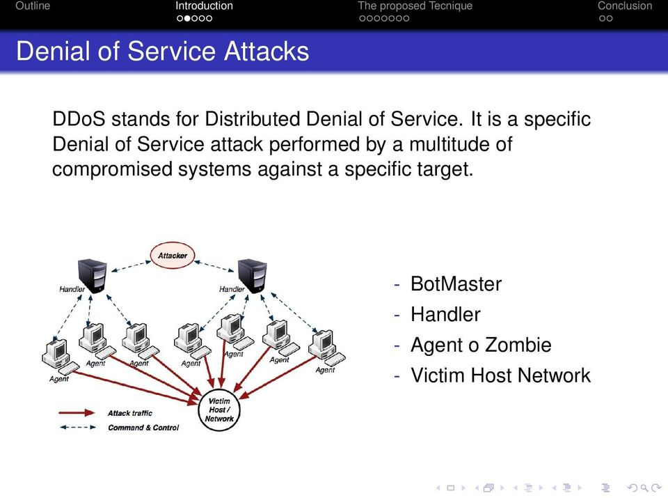 It is a specific Denial of Service attack performed by a