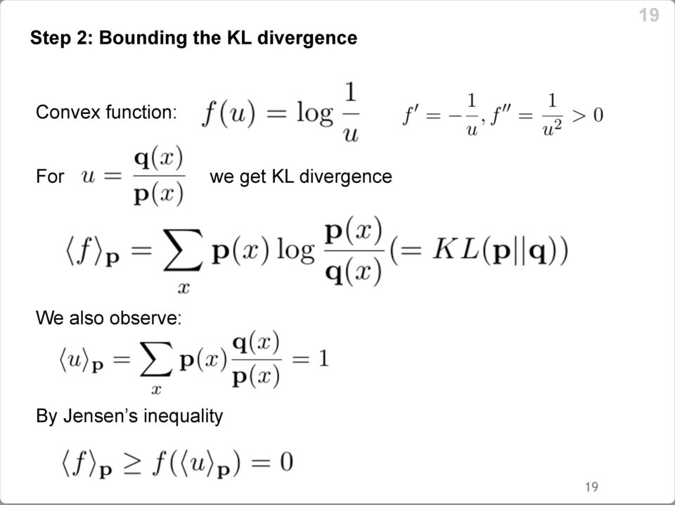 For we get KL divergence We