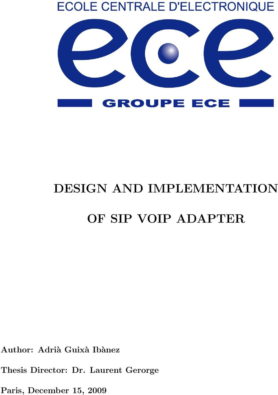 Thesis paper on voip