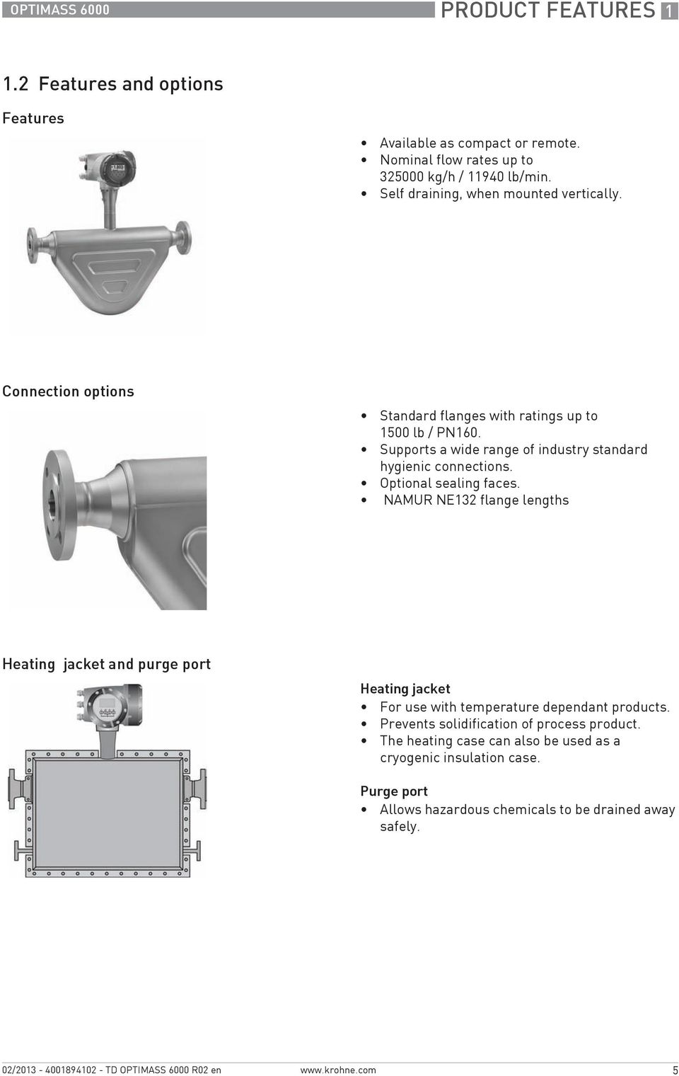 Supports a wide range of industry standard hygienic connections. Optional sealing faces.