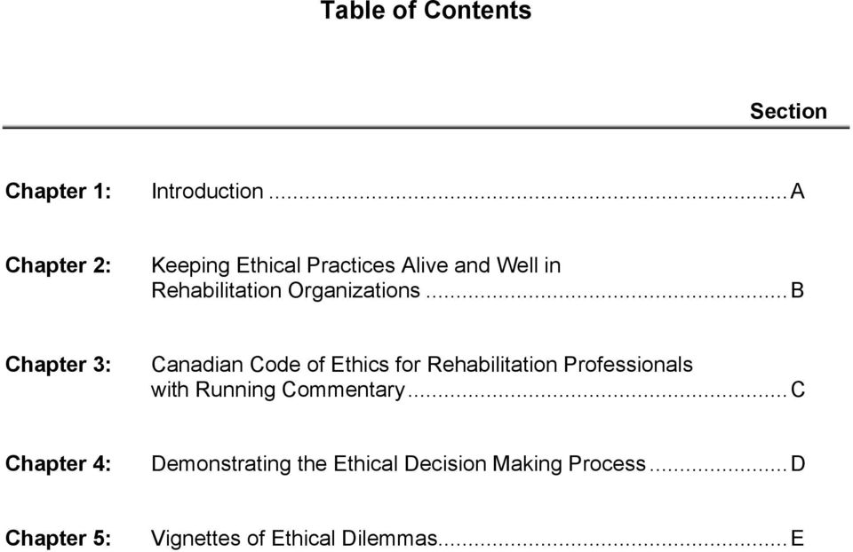 .. B Chapter 3: Canadian Code of Ethics for Rehabilitation Professionals with Running