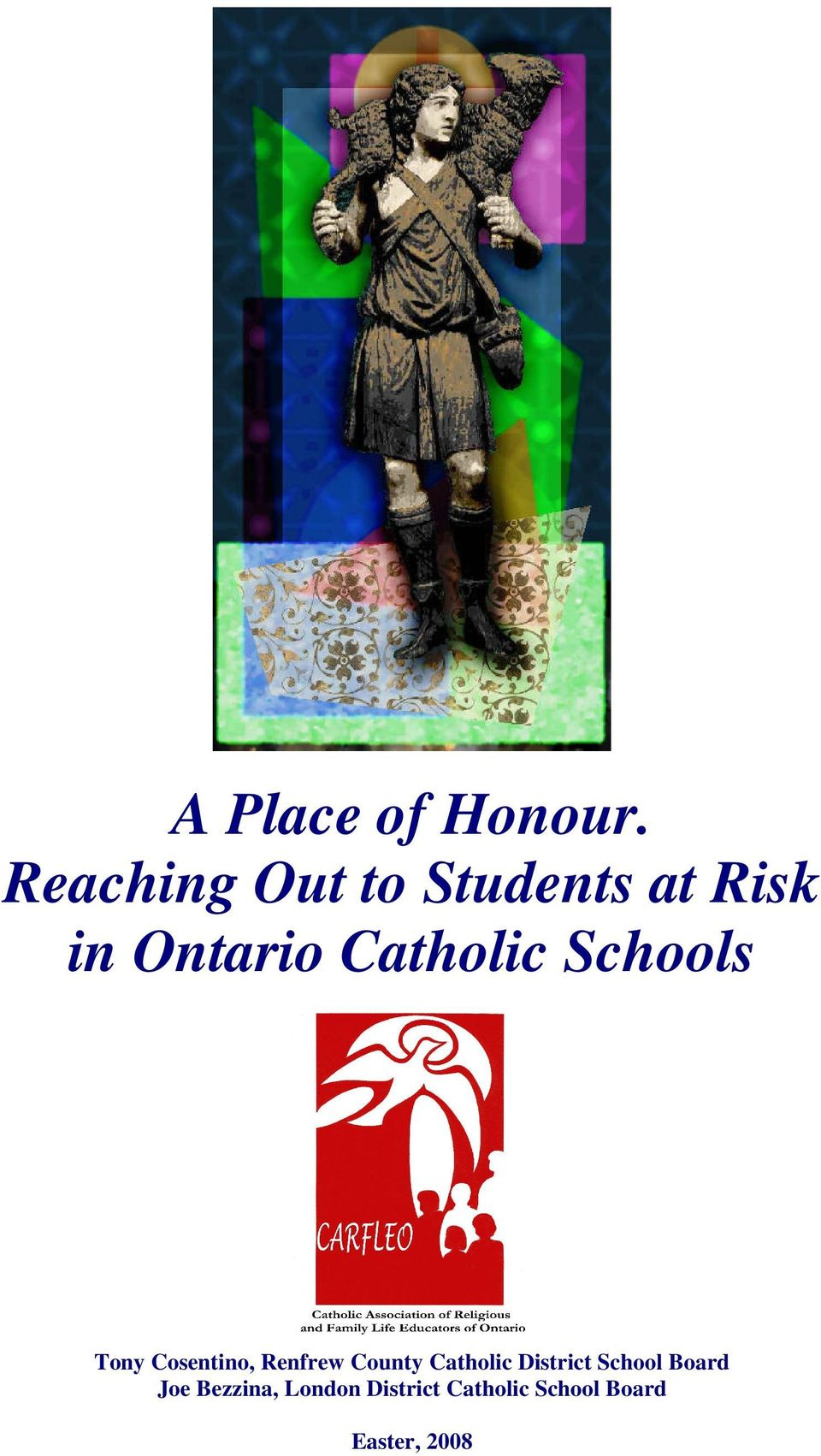 Catholic Schools Tony Cosentino, Renfrew County