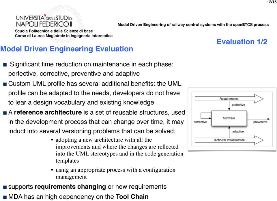 development process that can change over time, it may induct into several versioning problems that can be solved: adopting a new architecture with all the improvements and where the changes are
