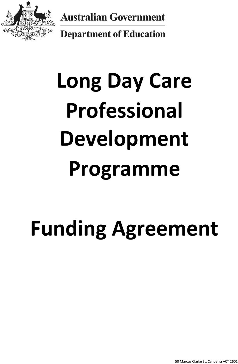 Funding Agreement 50