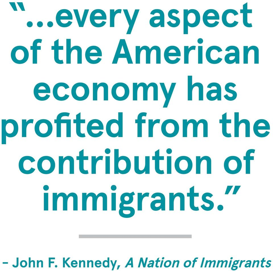 contribution of immigrants.