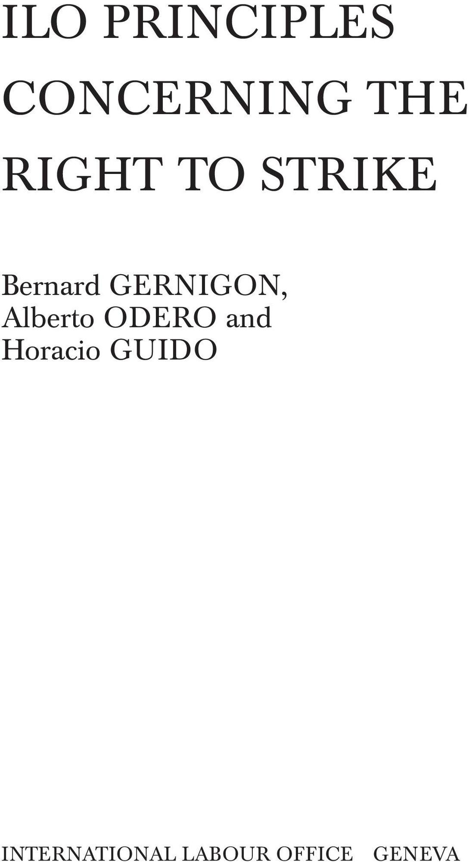 GERNIGON, Alberto ODERO and