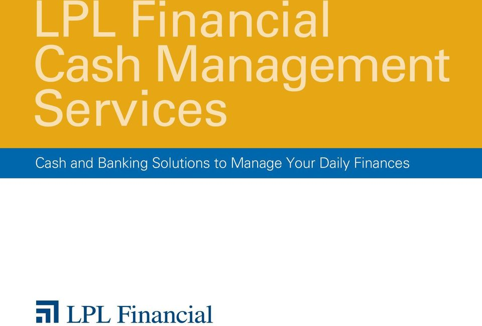 Cash and Banking Solutions
