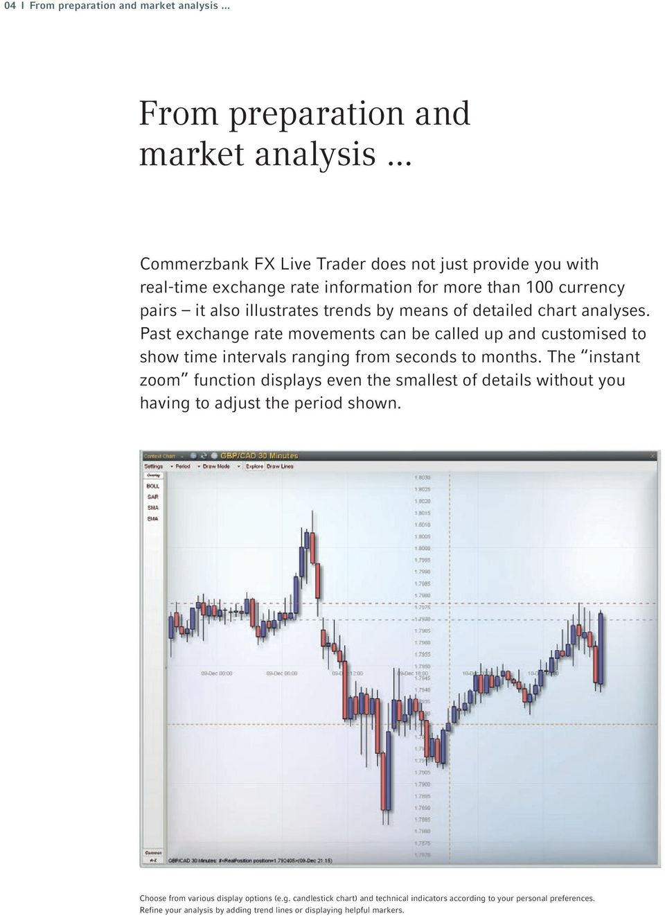 .. Commerzbank FX Live Trader does not just provide you with real-time exchange rate information for more than 100 currency pairs it also illustrates trends by means of