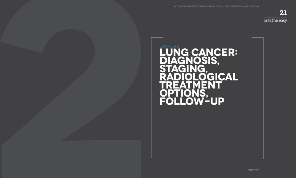 21 CHAPTER 2 LUNG CANCER: DIAGNOSIS,  CHAPTER 1