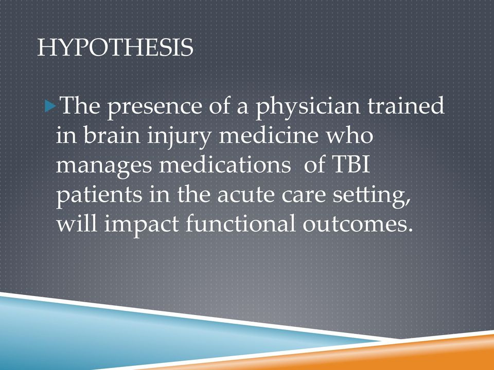 manages medications of TBI patients in the