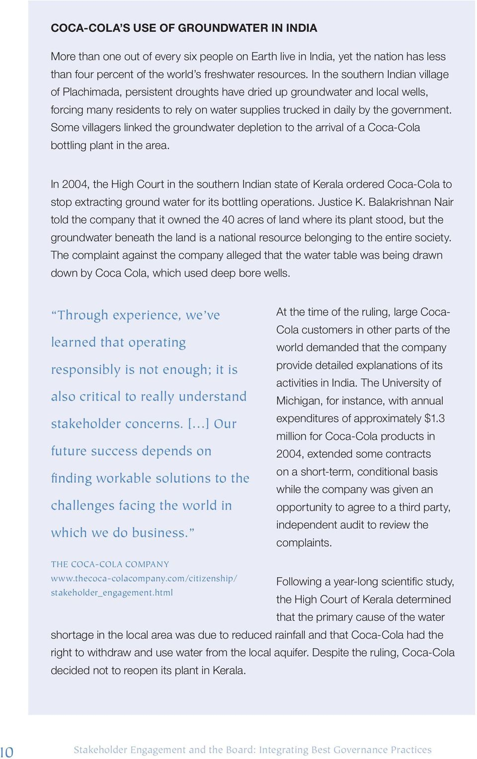 a case study on the operations management practices of coca cola hbc Read all customer case studies and success stories,  aws managed services infrastructure operations management for aws  by using amazon web services.