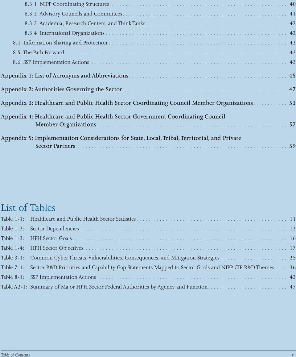 .. 47 Appendix 3: Healthcare and Public Health Sector Coordinating Council Member Organizations.