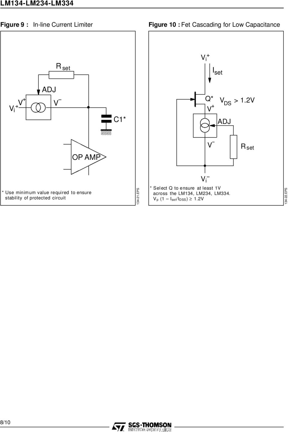 2 DS C1* OP AMP i * Use minimum value required to ensure stabil ity of