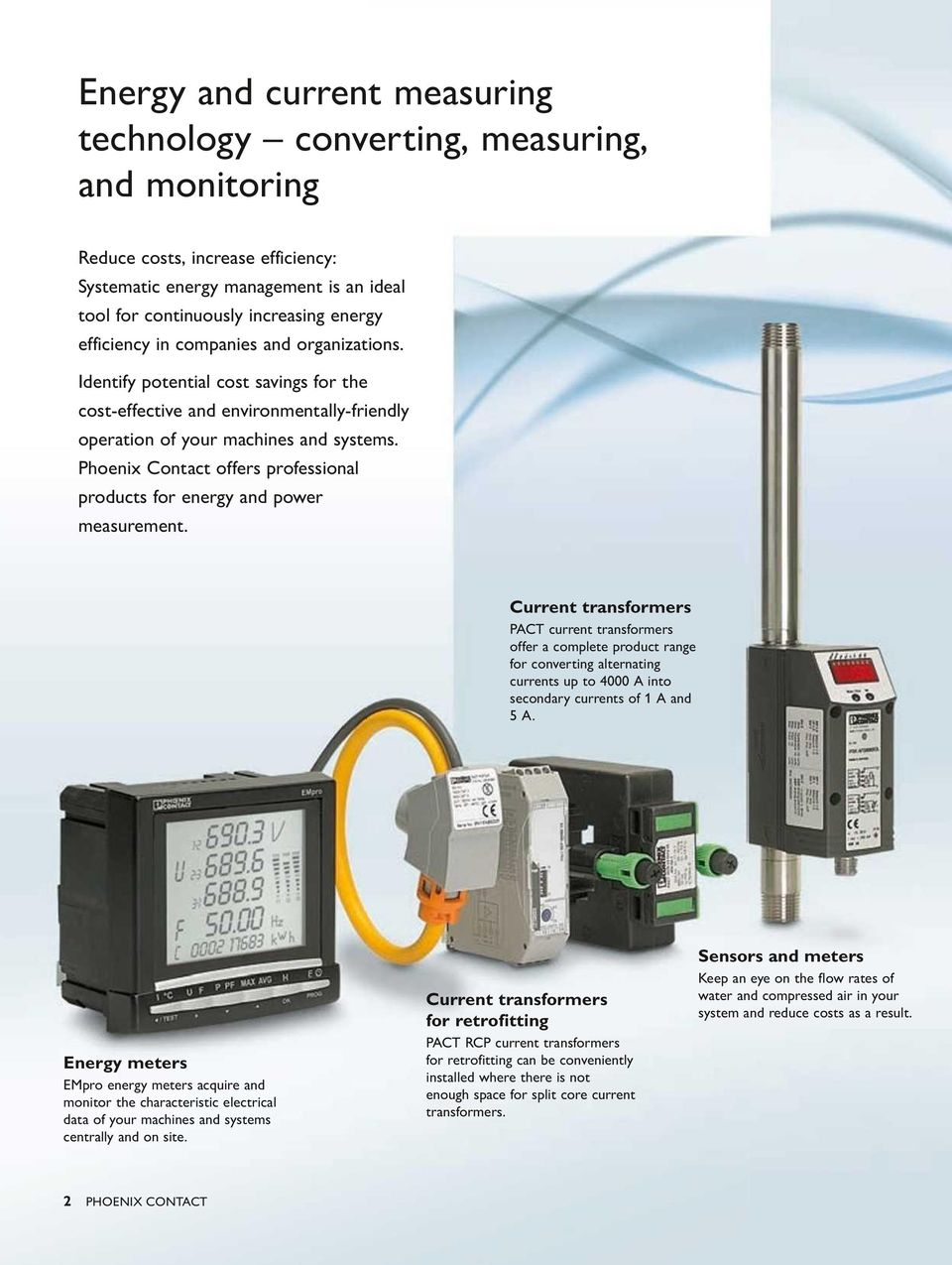 Phoenix Contact offers professional products for energy and power measurement.