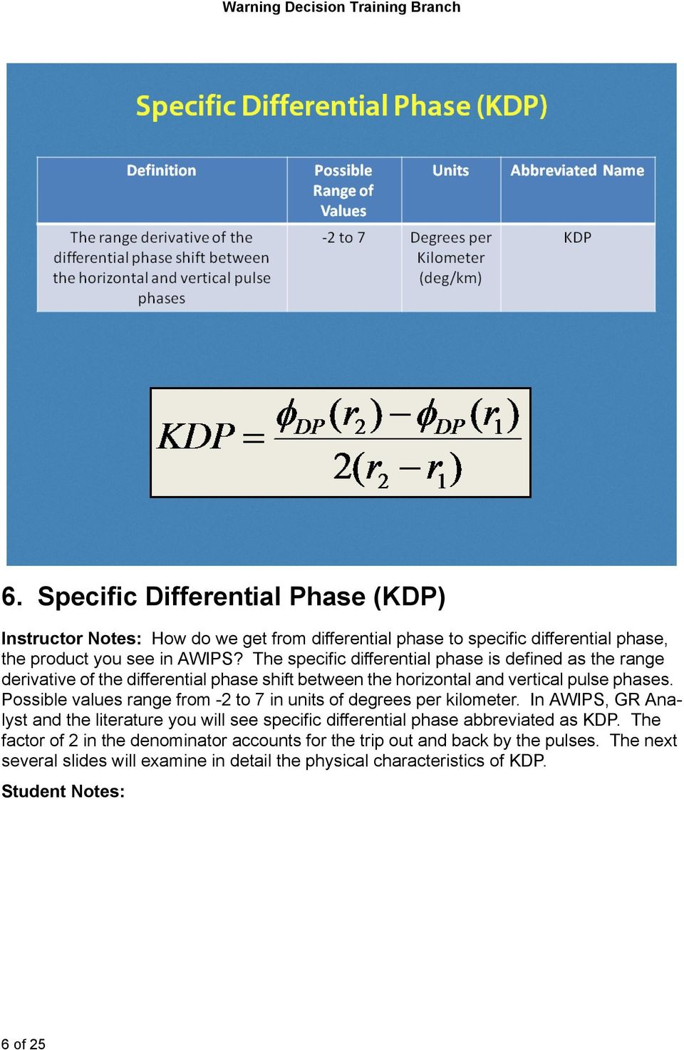 The specific differential phase is defined as the range derivative of the differential phase shift between the horizontal and vertical pulse phases.
