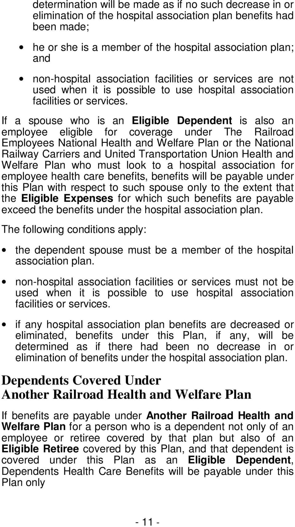 national railway carriers united trans union health welfare plan