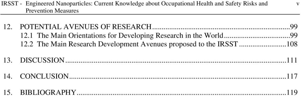 1 The Main Orientations for Developing Research in the World...99 12.