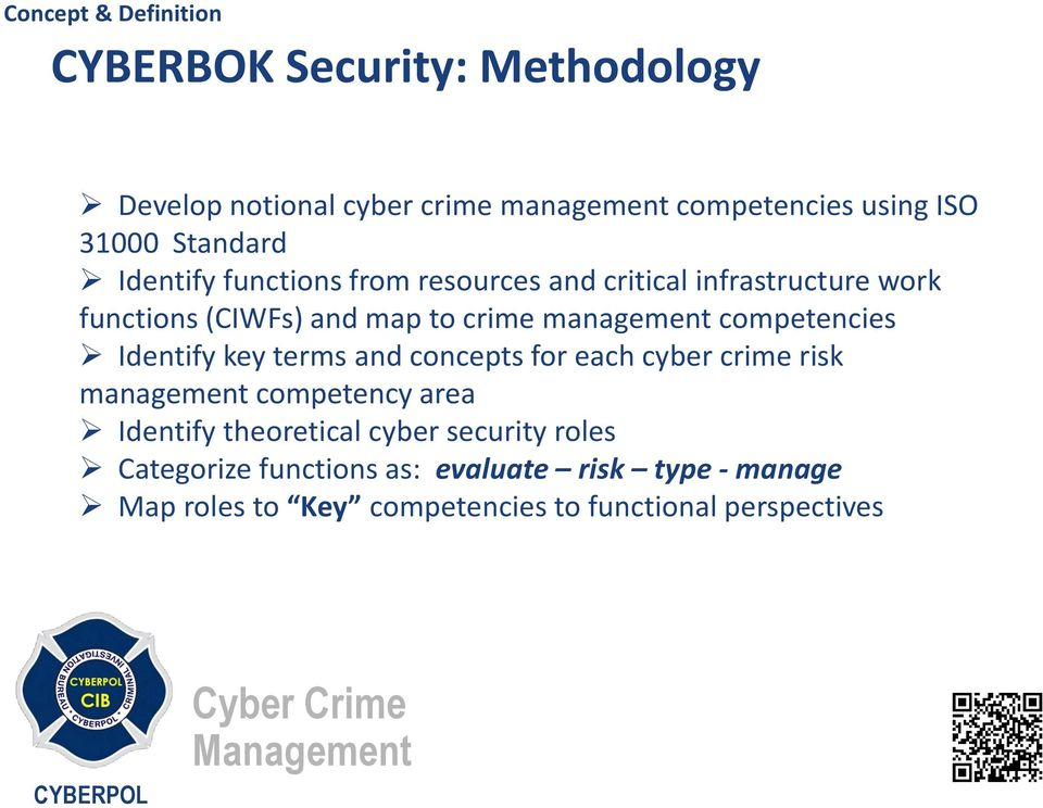 Identify key terms and concepts for each cyber crime risk management competency area Identify theoretical cyber