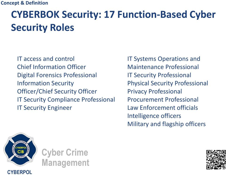 Security Engineer IT Systems Operations and Maintenance Professional IT Security Professional Physical Security