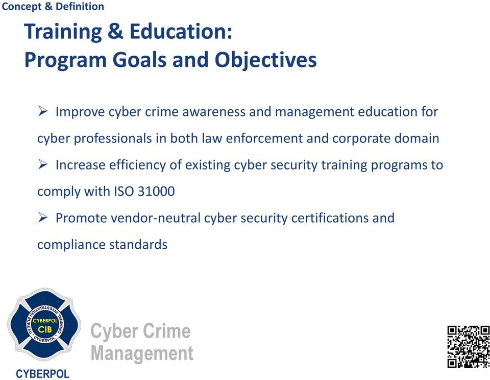 domain Increase efficiency of existing cyber security training programs to comply