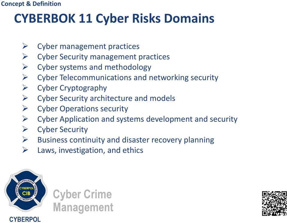 Security architecture and models Cyber Operations security Cyber Application and systems development