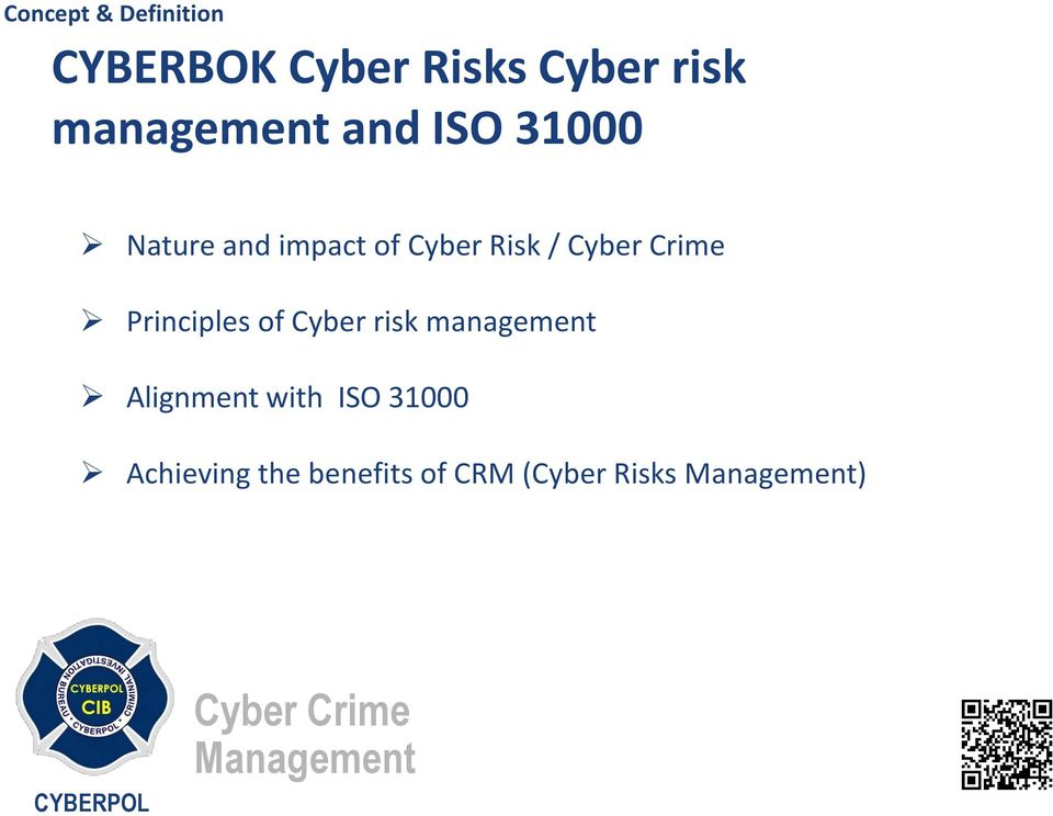 Principles of Cyber risk management Alignment