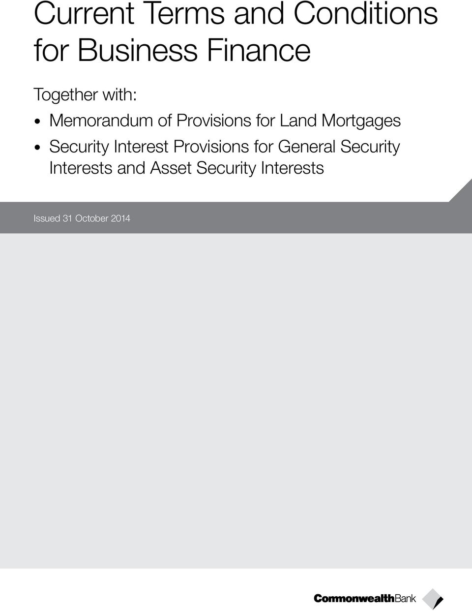 Mortgages Security Interest Provisions for General