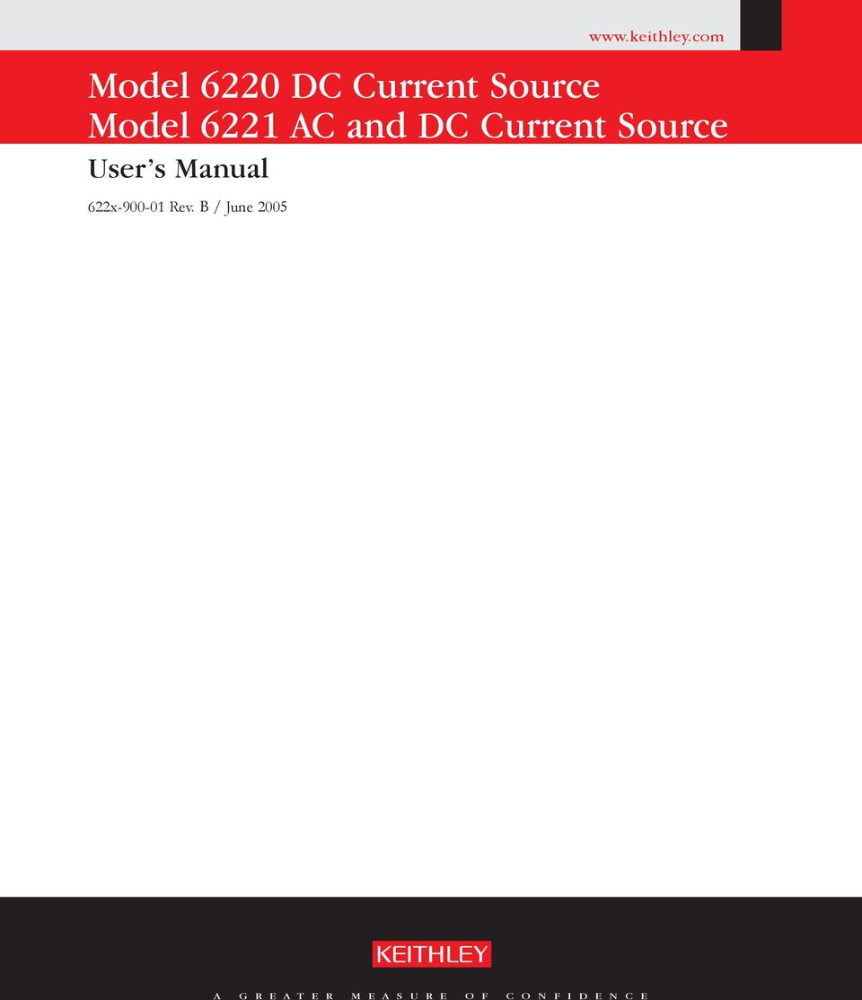AC and DC Current Source User s Manual