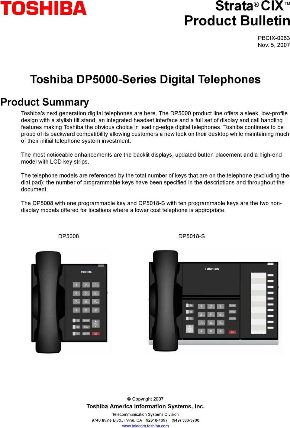 choice in leading-edge digital telephones.