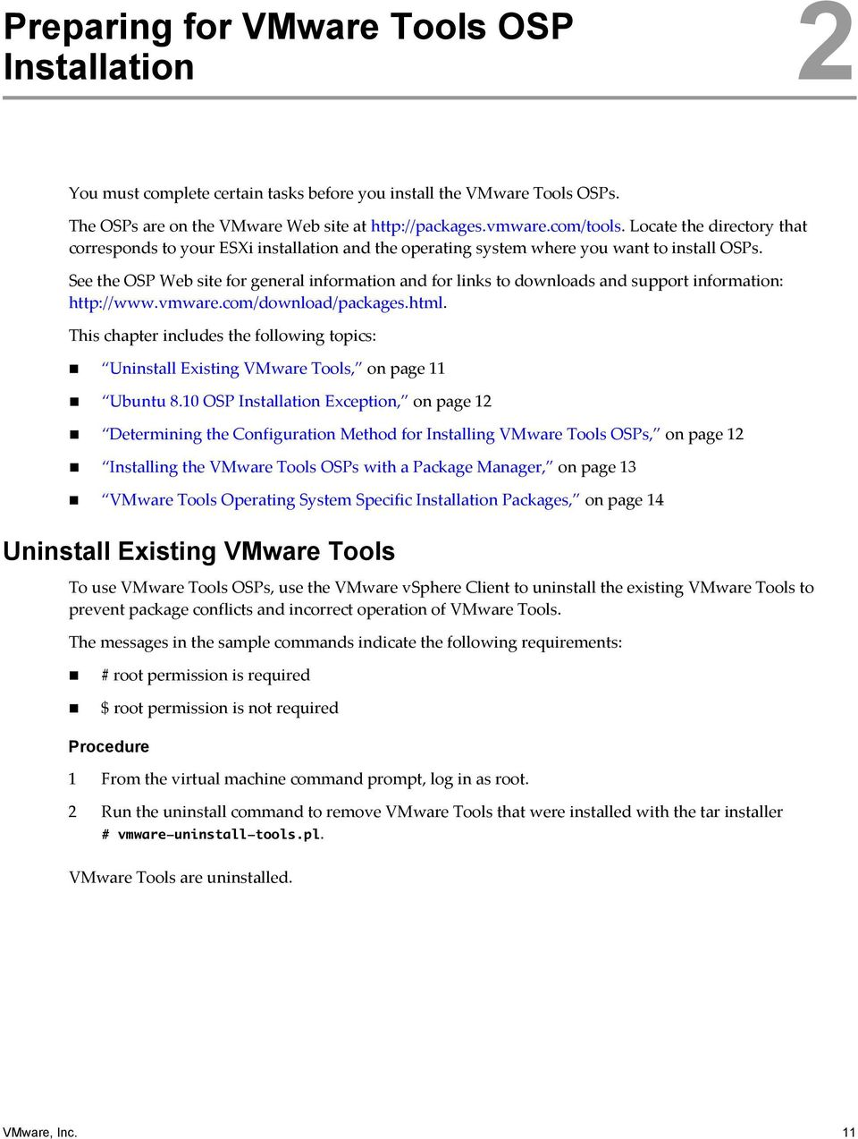 Existing VMware Tools #