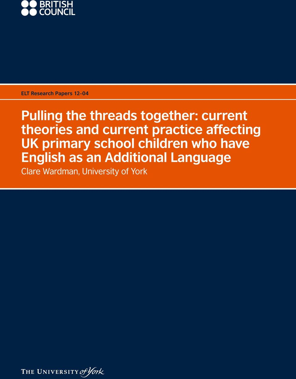 affecting UK primary school children who have