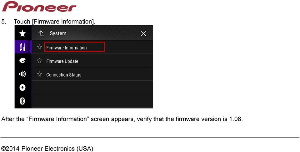 appears, verify that the firmware