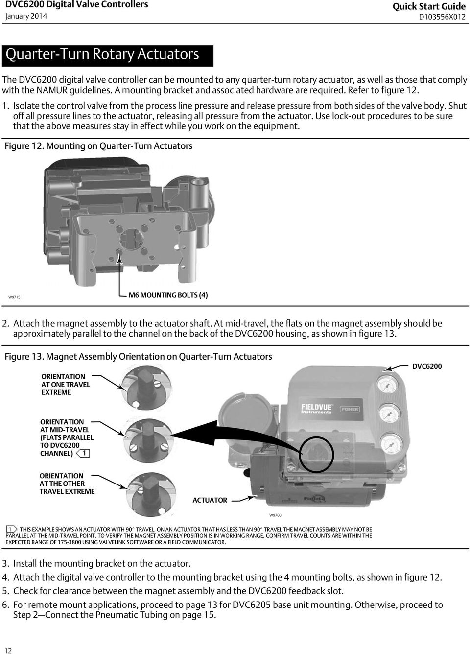 . 1. Isolate the control valve from the process line pressure and release pressure from both sides of the valve body.