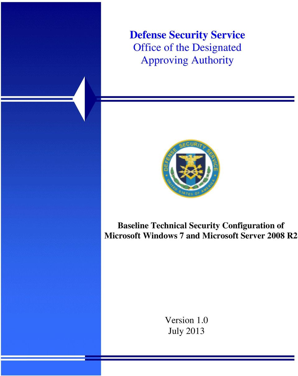 Technical Security Configuration of