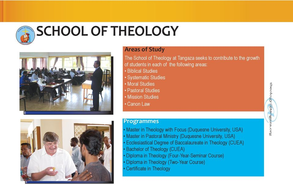Diploma in Theology (Two-Year Course) Certificate in Theology theologytangaza.
