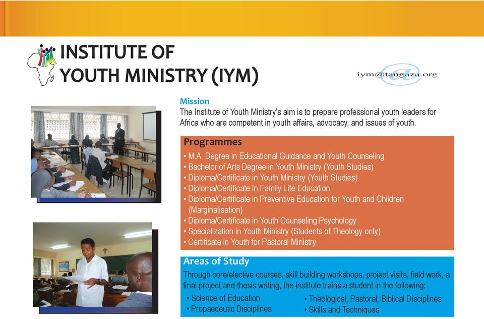 rica who are competent in youth affairs, advocacy, and issues of youth. M.A.