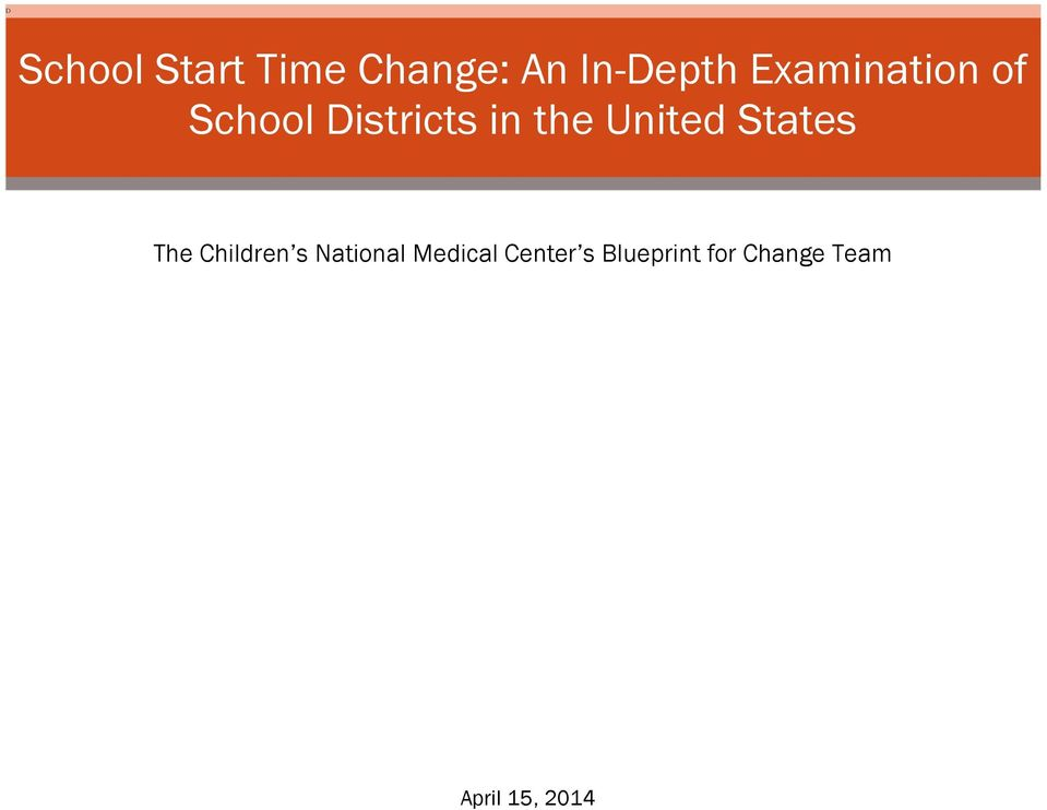 States The Children s National Medical