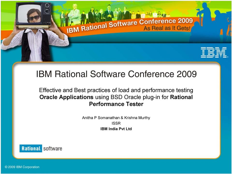 Oracle plug-in for Rational Performance Tester