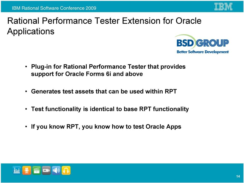 above Generates test assets that can be used within RPT Test functionality is