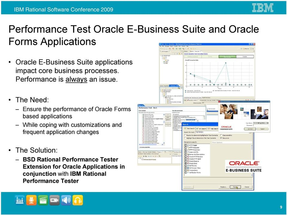 The Need: Ensure the performance of Oracle Forms based applications While coping with customizations and