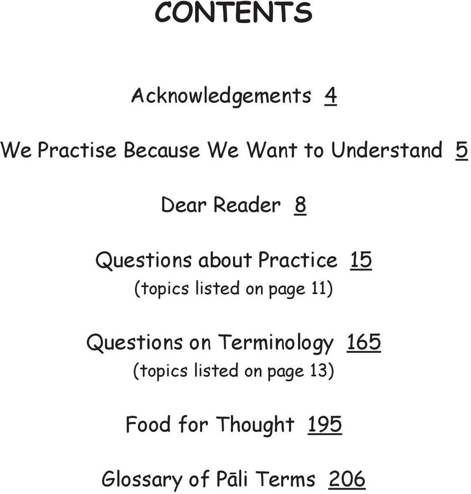 (topics listed on page 11) Questions on Terminology 165