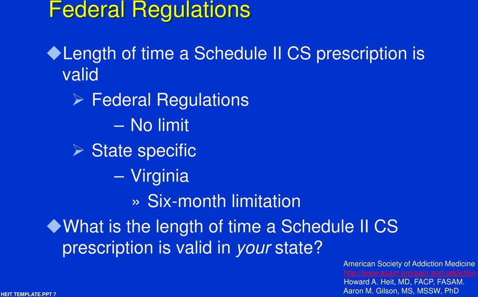 Federal Regulations No limit State specific Virginia»