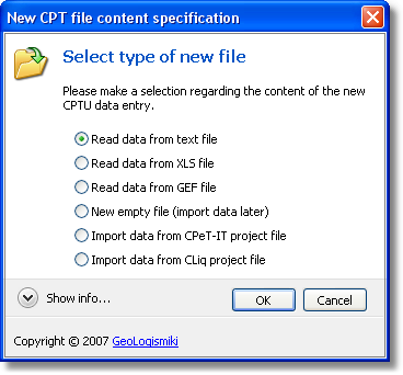 Overview 11 New CPT file options By default, CPeT-IT will prompt you to read