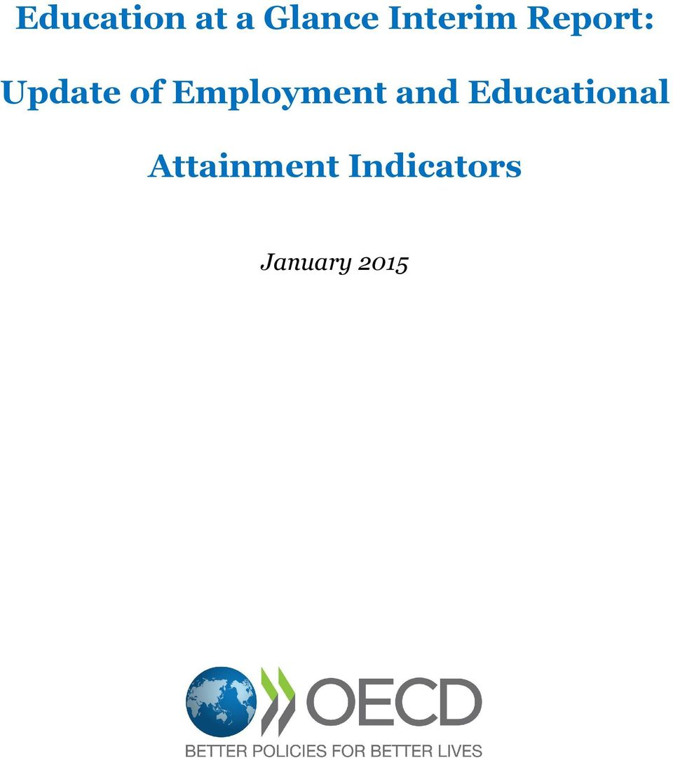 Employment and Educational