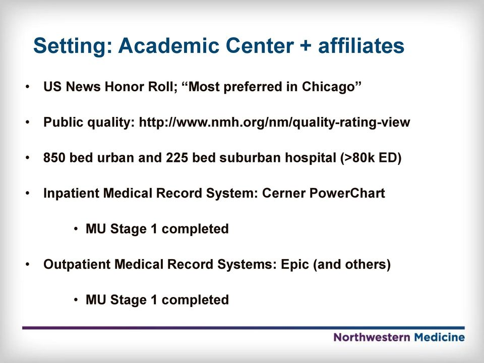 David Liebovitz, MD CMIO, Northwestern Medical Faculty