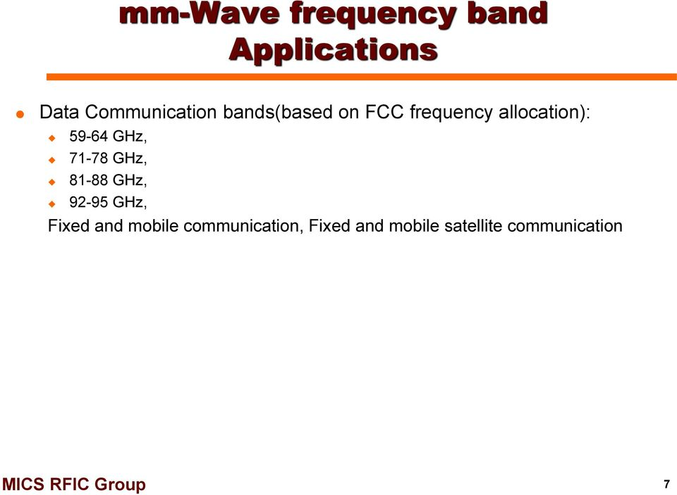 frequency allocation for satellite communication pdf